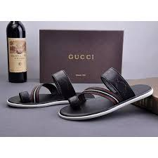 Replica Gucci Slippers For Men Flip Flops Summer Fashion Brand Rubber Wear Resistant
