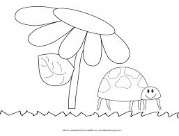 Color Pages For Kids Lady Bug