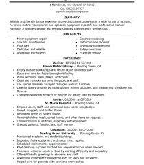 Janitor Job Description Resume Original For Sample Me A41996