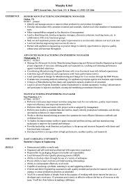 Download Manufacturing Engineering Manager Resume Sample As Image File