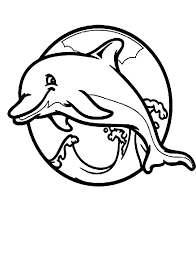 Dolphin And Mermaid Coloring Pages 4