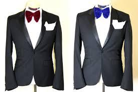set of blue and red oversized mens velvet bow tie wedding