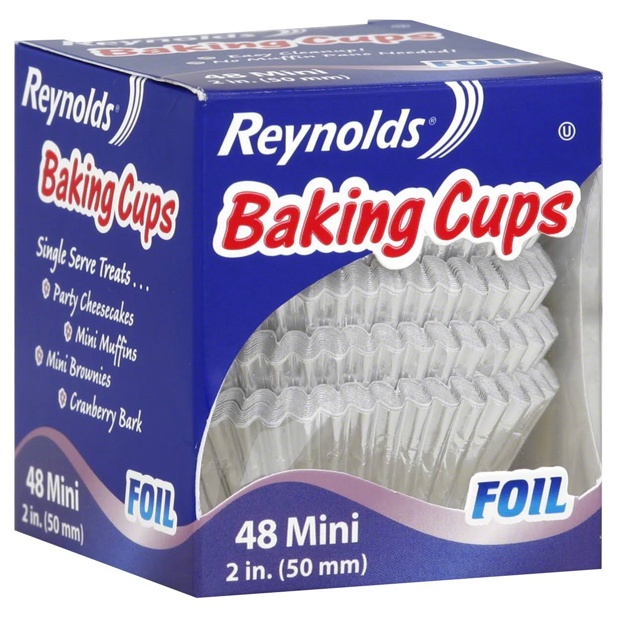 Reynolds Baking Cups - 48 Mini Foil Cups, 50mm