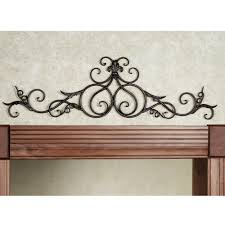 Valuable Inspiration Iron Scroll Wall Decor Plus Wrought Best Black Cast Decoration
