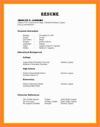 Personal Reference For Resumeresume Examples With References Template Resume Sample Letter Will Of