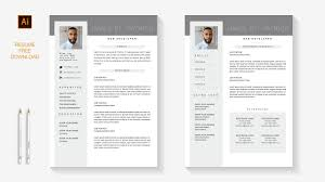 Professional Resume FREE 2 Pages Template Download | Illustrator Speed Art Free Simple Professional Resume Cv Design Template For Modern Word Editable Job 2019 20 College Students Interns Fresh Graduates Professionals Clean R17 Sophia Keys For Pages Minimalist Design Matching Cover Letter References Writing Create Professional Attractive Resume Or Cv By Application 1920 13 Page And Creative Fully Ms
