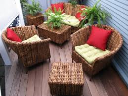 Image Of Wondrous Wicker Outside Patio Furniture Vintage Single Seater Sofa With Lots Lime