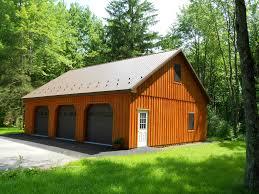 Backyards Build Pole Buildings Precise Custom Garage Metal Roof