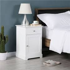 nachtschrank kommode boxspringbett nachttisch nachtkommode mit stauraum 40 x 35 x 60 cm schlafzimmer weiß