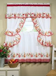 Charming Modern Polyester Kitchen Curtains With Classic Ruffled Accents And Decorative Pattern