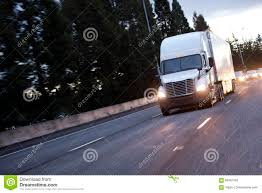 100 How Wide Is A Semi Truck Modern White Big Rig With Trailer Moving By High