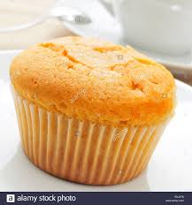 Closeup Of A Magdalena The Typical Spanish Plain Muffin In A White