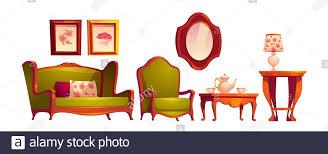 wohnzimmer im klassischen viktorianischen stil mit sofa