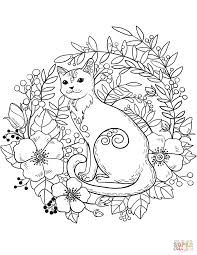 Click The Cat Coloring Pages To View Printable Version Or Color It Online Compatible With IPad And Android Tablets