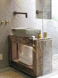 moderne holzeinrichtung fürs bad badezimmer rustikal
