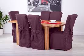 Manificent Wonderful Ebay Chair Covers Set Of 6 Purple Fabric Dining For Scroll Top
