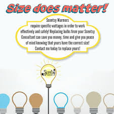 light bulbs size matters scentsy