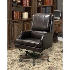 Park Living Prestige Leather Desk Chair In Sable DC107SB