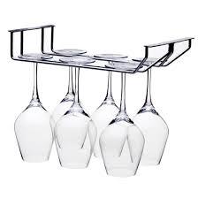 100 Glass Racks For Trucks 2 Rows Stainless Steel Wine Rack Hanger Bar Home Cup