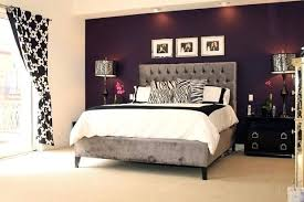 Black And White Decor Really Pop With The Deep Purple Accent Wall Dining Room
