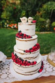 Naked Berry Wedding Cake