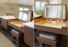 Double Sink Vanity With Dressing Table by Furniture Luxury Modern Bathroom Vanities Double Sinks Dressing