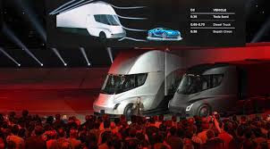 Elon Musk Unveils Tesla's Electric Semi Truck And A New Roadster