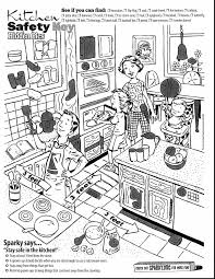 Spectacular Kitchen Safety Coloring Pages For Kids With Fire And