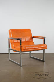 Orange Chromcraft Lounge Chair From Fair Auction Co Of Sterling, VA
