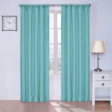 Eclipse Blackout Curtains 95 Inch by Eclipse Kendall Blackout Turquoise Curtain Panel 84 In Length