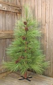 6 Long Needle Pine Artificial Christmas Tree Primitive Holiday Rustic Decor