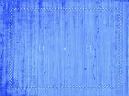 Hand Woven Denim Blue Modern Art Silk Gabbeh Carpet