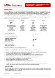 Entry Level MBA Resume