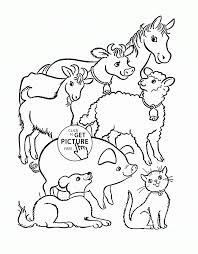 Farm Animal Coloring Pages Animals Page For Kids To Download