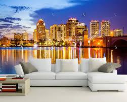 kundenspezifische moderne tapete florida skyline und city 3d wandbild für wohnzimmer schlafzimmer sofa hintergrund home dekoration