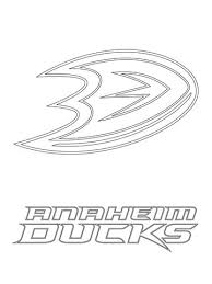 Click To See Printable Version Of Anaheim Ducks Logo Coloring Page