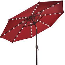 Solar Lighted Rectangular Patio Umbrella by Led Patio Umbrella Home Design