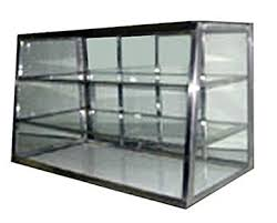 Carib Countertop Dry Bakery Display Case 24quot Tapered Glass Showcase W
