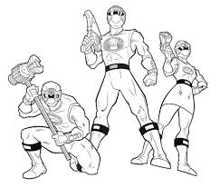 Coloring Page Power Rangers Superheroes 101