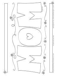 Free Printable For Mom Coloring Page From