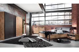 wimex detroit schlafzimmer in holznachbildung mit metall