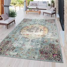 moderner outdoor teppich wetterfest für innen außenbereich boho style in multifarben größe 60x100 cm