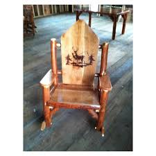 Image Of Rustic Rocking Chairs Oak