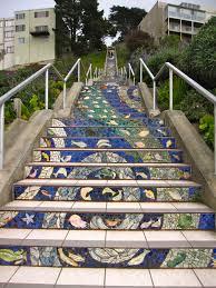 16th Avenue Tiled Steps In San Francisco by Hiking San Francisco Blog Urban Hiker Sf