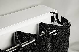 1 support sans perçage geko pour tringle à rideaux diamètre 28 mm