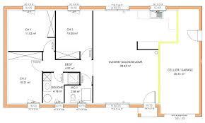 plan de maison de plain pied 3 chambres plan maison 90m2 plainpied 3 chambres awesome esquisse d plan de