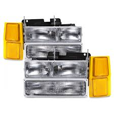 94-99 Chevy Silverado Suburban Blazer C/K Pickup Truck Headlamps ... 881998 Chevy Truck 8piece Black Halo Headlights Set Wxenon Bulbs Billet Front End Dress Up Kit With 7 Single Round 1973 Lumen Ck Pickup 1964 Projector Led Dna Motoring For 0306 Silveradoavalanche 4pc Headlight 5 Inch 1958 Wiring Diagrams Schematics 03 04 05 06 Silverado 1500 Tail Lights Parking Light 9499 Suburban Blazer Headlamps Light Blue Trucks Elegant Chevrolet Colorado Crew Cab Photo 9902 1 Piece Grille Cversion Dash In 2017 Are Awesome The Drive 072014 Tahoe Avalanche Tron Style Neon Tube
