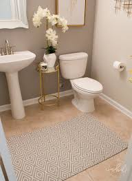 Elegant Half Bath On A Budget Using Devine Color Wallpaper