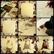 bilder drucke handarbeit 3d collage frame kunst bild wand