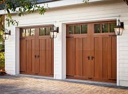 Clopay Canyon Ridge Collection Faux Wood Carriage House Style Garage Door Design 13 With REC13